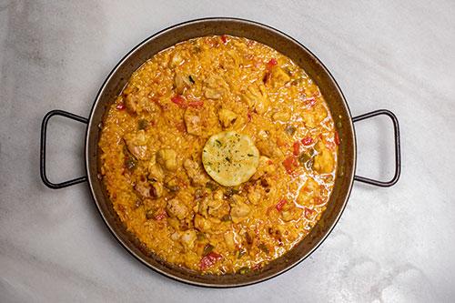 The best chicken paella in Madrid