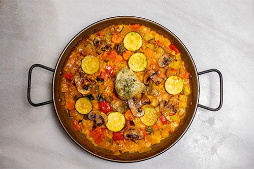 The best vegetables paella in Madrid