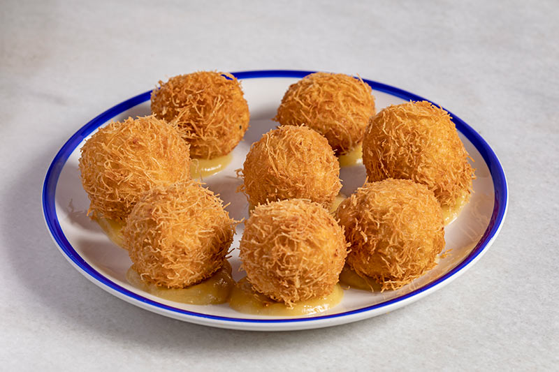 The best Cabrales cheese and apple croquettes in Madrid   Taberna El Fontán