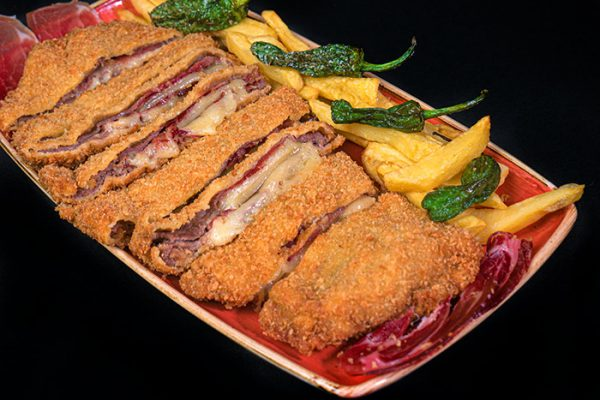 Cachopo traditional Asturian style veal cutlet