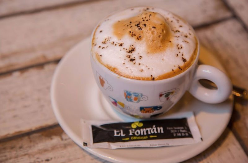 Coffee, tea and infusions in Madrid center